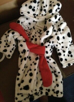 Dressing Gowns Alert 101 Dalmatian Robe /dressing Gown Up To 1 Months Brand New Elegant In Smell
