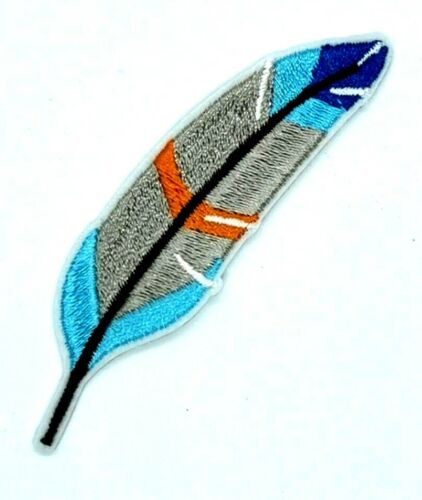 Colorful Bird Feather Patch Iron Sew On Embroidered Applique Boho Bohemian 1742