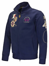 Sale%La Martina - Men's Sweat Jacket - Blue T-shirt - Polo shirt shirt Size:3XL
