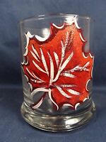 Maple Leaf Rocks Glass Candle Votive Holder Home Decor