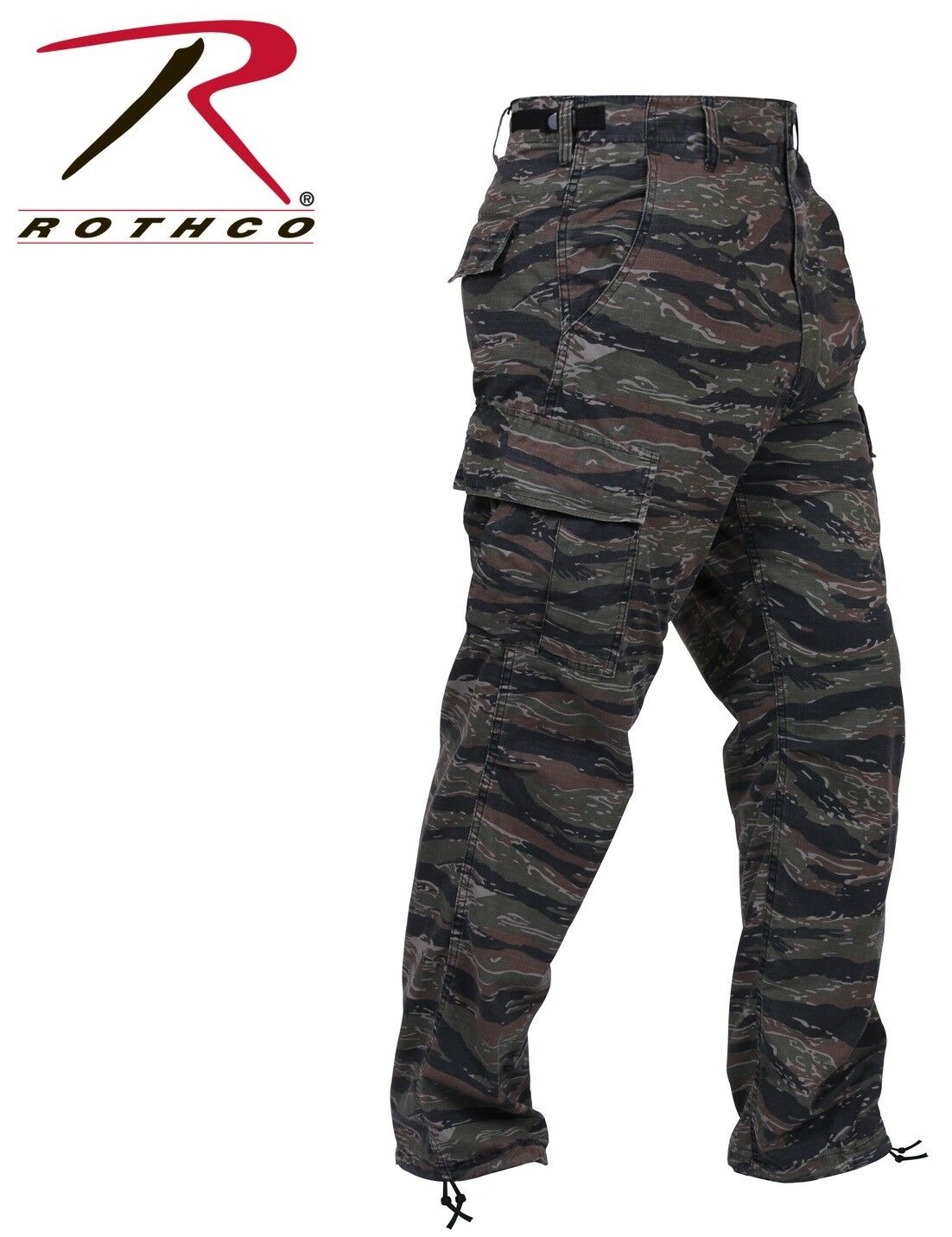 BDU pants military style tiger stripe camo cargo trousers Poly Cott redhco 7995