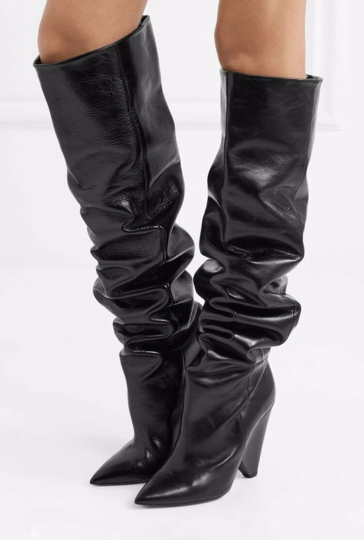Women's Chelsea Boots Slouch Thigh Boots Leather Suede Sexy Over Knee high Boots
