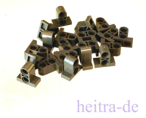 LEGO Technik 32530 NEUWARE 20 x Verbinder mit Fuss 1x2x1 2//3 dunkelgrau