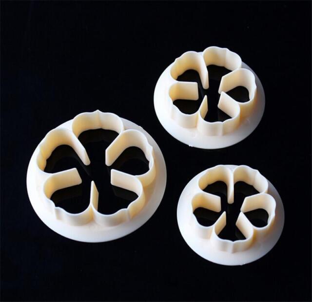Rose Flower Pattern Cookie Fondant Cake Cutter Paste Sugarcraft Decor Mold A FS