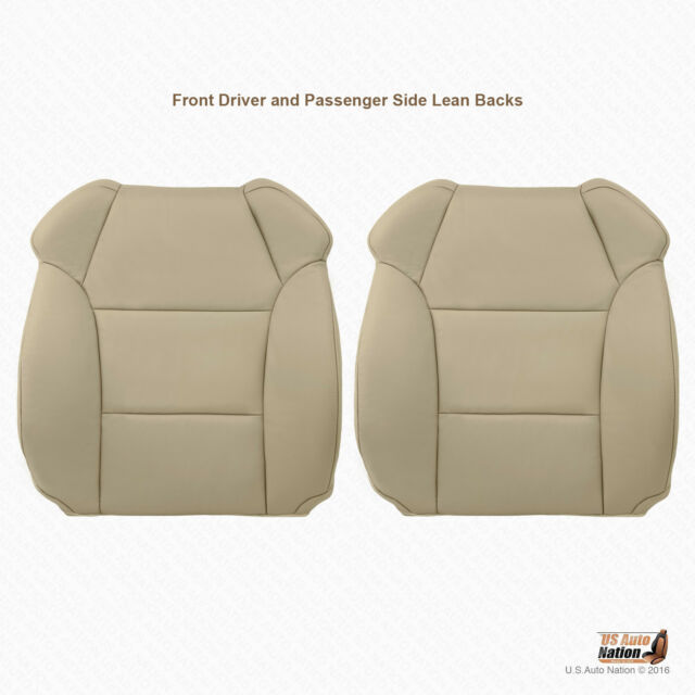 Driver-Passenger Tops Leather Replacement Cover TAN Fits
