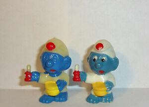 SCHLAFMUTZE-SCHLUMPF-Variante-SCHLIERIG-ohne-Augen-E-D-D-S-Schluempfe-1981-ORIG