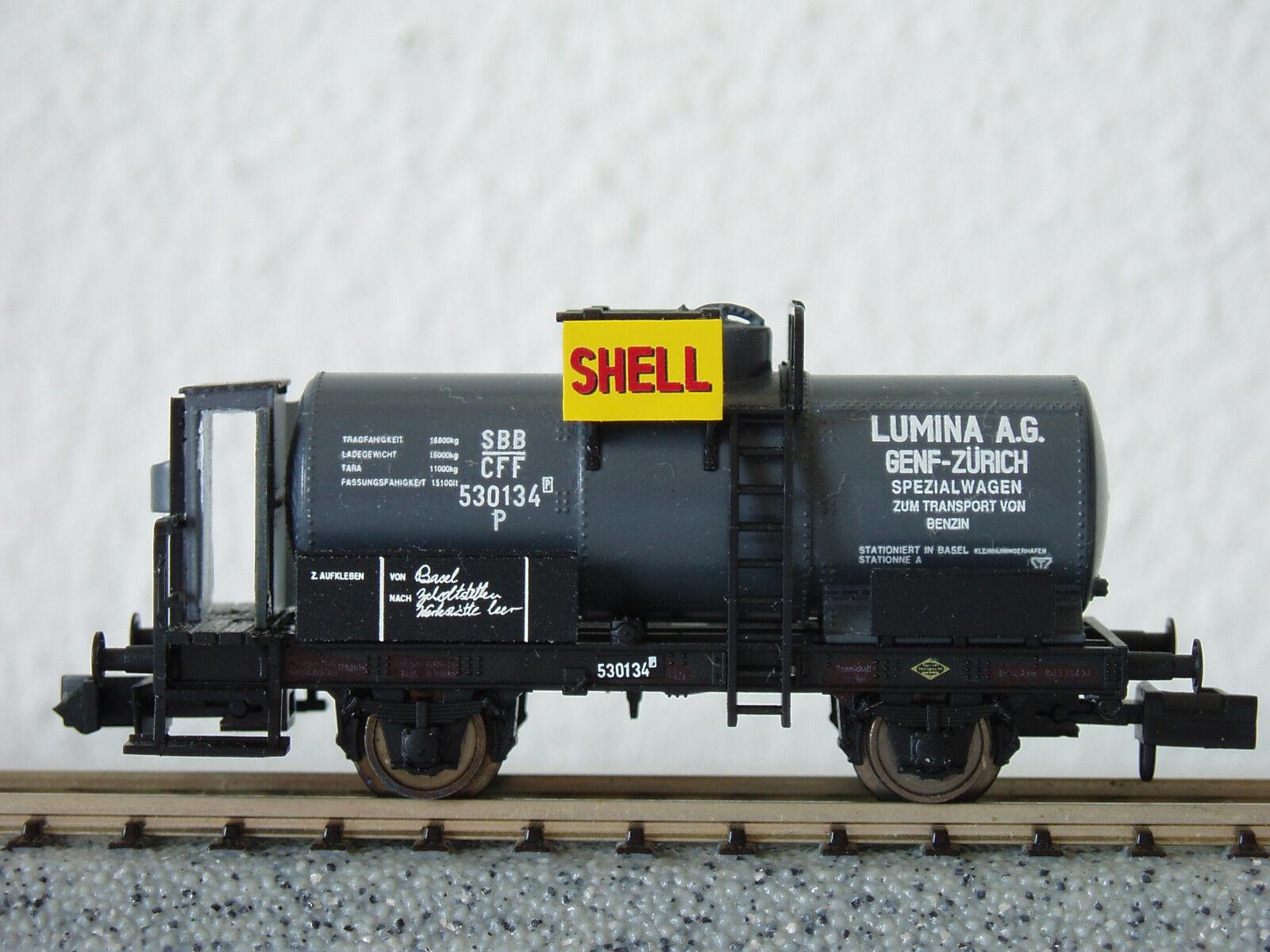 SBB Kesselwagen  SHELL  530134 (3202) JURETIC Handarbeitsmodell