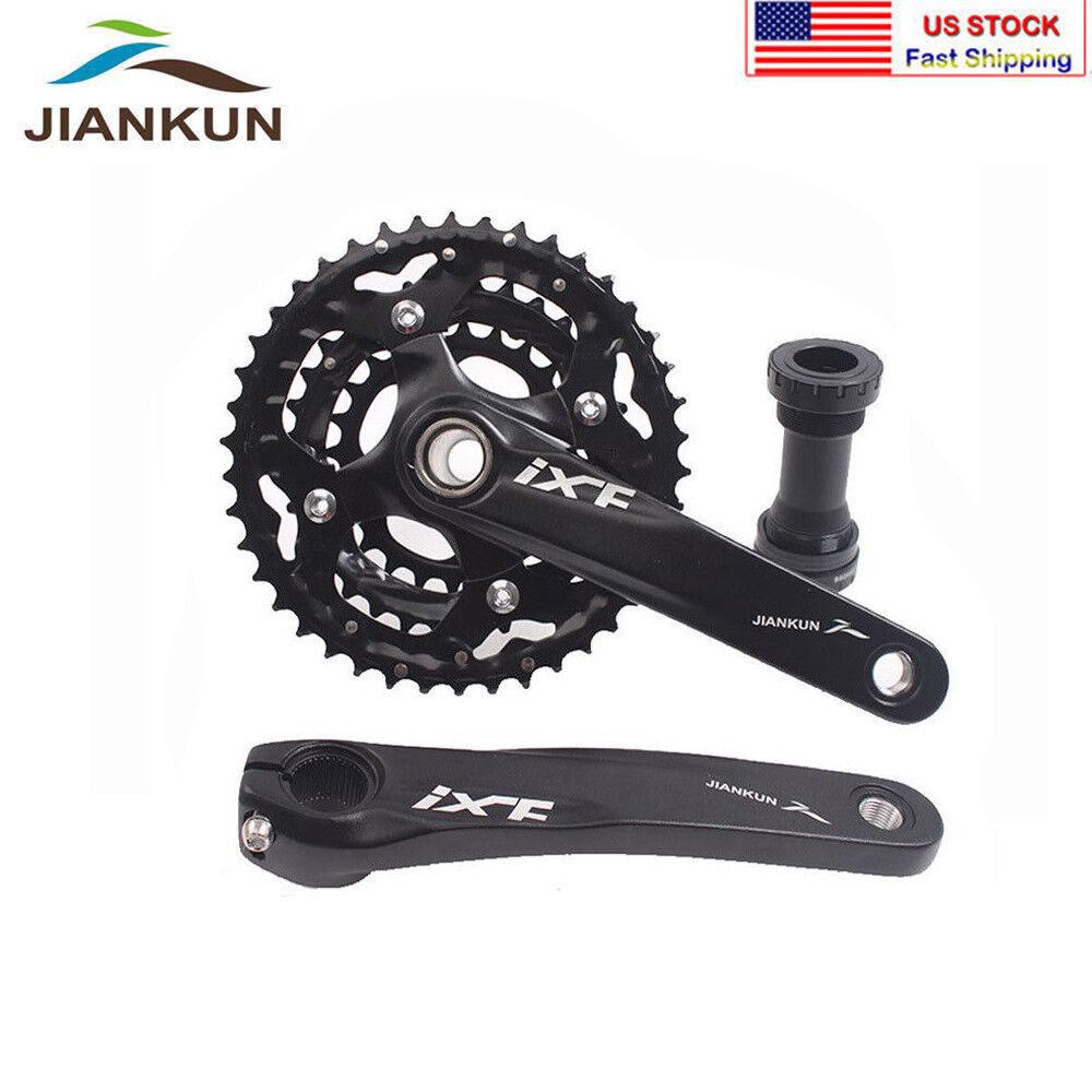 MTB Bike Crankset 104 64mm BCD 24 32 42T 3x10S Triple Speed Chainring Crank BB