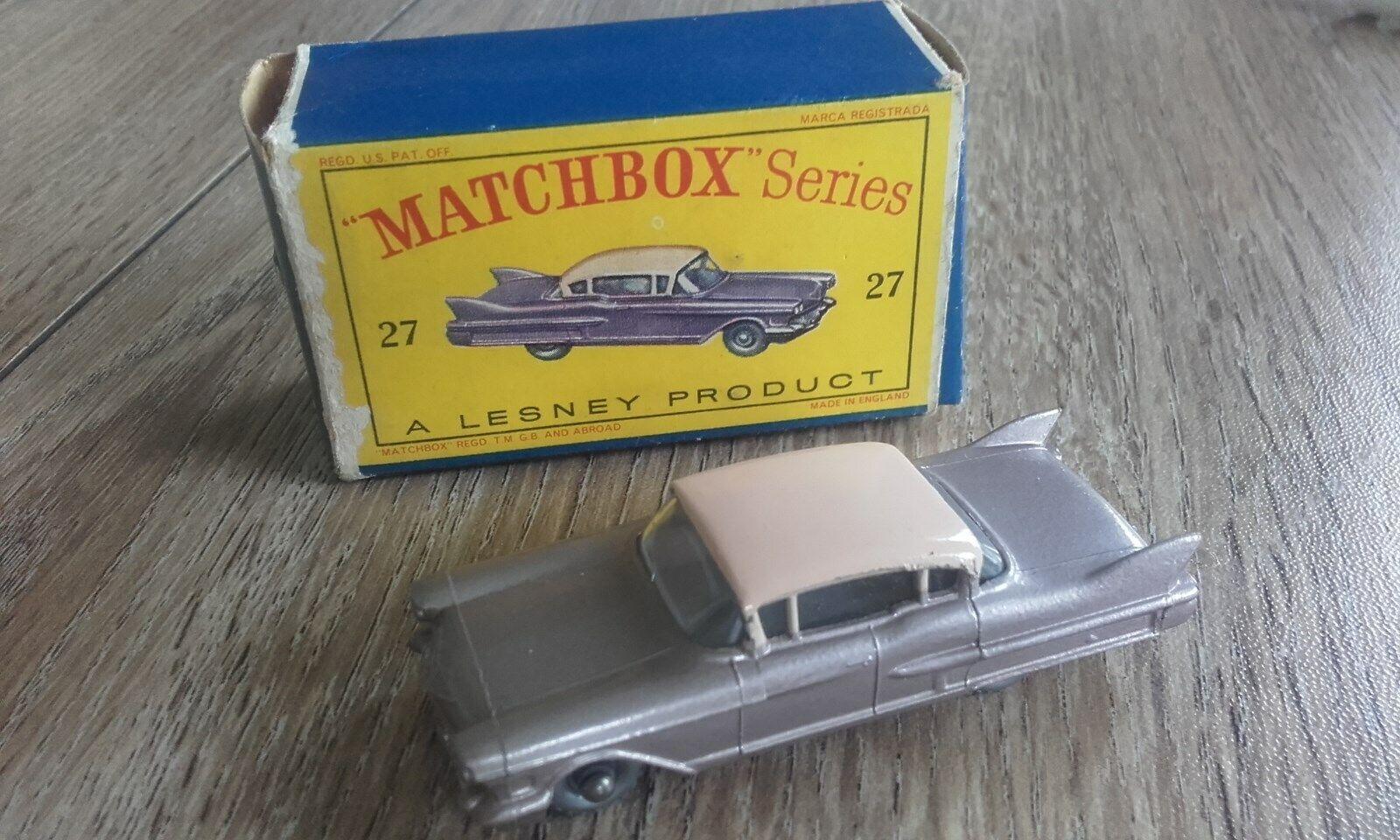 Matchbox Lesney No 27 ILLAC SEDAN neuf dans sa boîte box top état original regarder 1-75