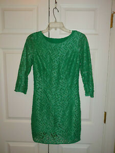 Lilly-Pulitzer-Solid-Camellia-Fern-Green-Lace-Shift-Dress-Size-2