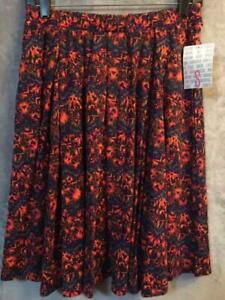 Obliging New With Tags Lularoe Madison Pleated Skirt With Pockets Women's Size Small