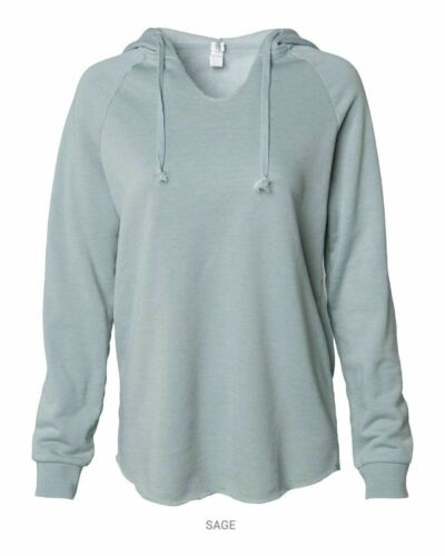 Women/'s Lightweight California Wave Wash Hooded Sweatshi Independent Trading Co