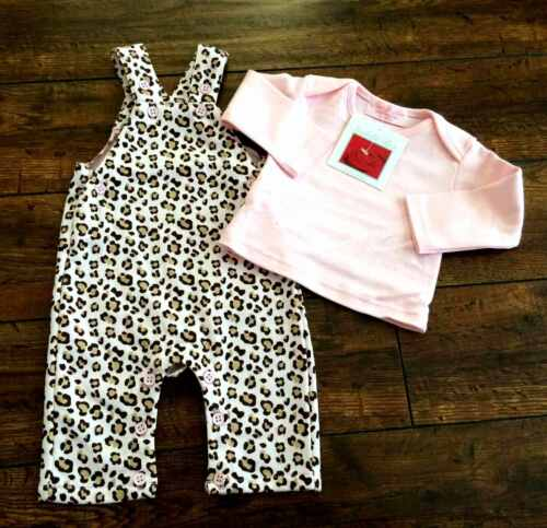 New BNWT baby girls Isabelle Rose pink dungarees set 3-6 6-9 9-12 12-18 months