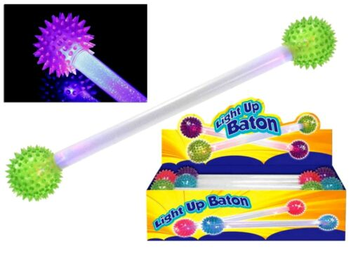 Light Up DEL clignotant pointus ball double baton Fancy Disco Party Glow Rave Jouet