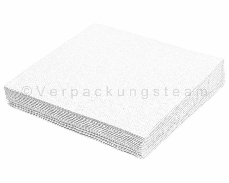 Einweg Servietten Zellstoff Tissue 40 x 40cm 1 4 -Falz 2-lagig weiß Bistro Kiosk | Modernes Design  | Lebhaft und liebenswert