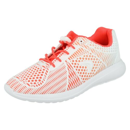 GIRLS JUNIOR CLARKS SPRINT WILD TOGGLE ELASTIC LACE SHOES SPORTS TRAINERS SIZE