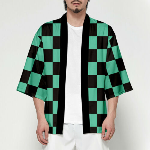 Anime Demon Slayer Kimetsu no Yaiba Characters Cosplay Kimono Haori Coat Top