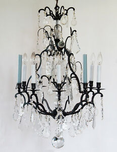 Electric Chandelier Late 1800s incredible antique bronze crystal with spire electric image is loading late 1800s incredible antique bronze crystal with spire audiocablefo