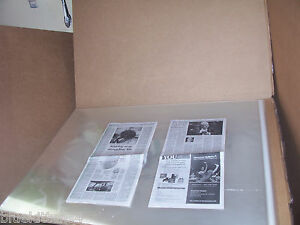 10 22 x 34 ACID FREE ART POSTER PERIODICAL ARCHIVAL STORAGE CELLOPHANE ENVELOPE