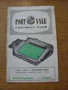 29081964 Port Vale v Colchester United  CreasedMarked Score Inside - <span itemprop=availableAtOrFrom>Birmingham, United Kingdom</span> - Returns accepted within 30 days after the item is delivered, if goods not as described. Buyer assumes responibilty for return proof of postage and costs. Most purchases from business s - Birmingham, United Kingdom