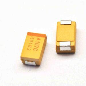 10 pcs Tantalum Capacitors 7343 25V 100uF Type D 20/% Surface Mount SMD