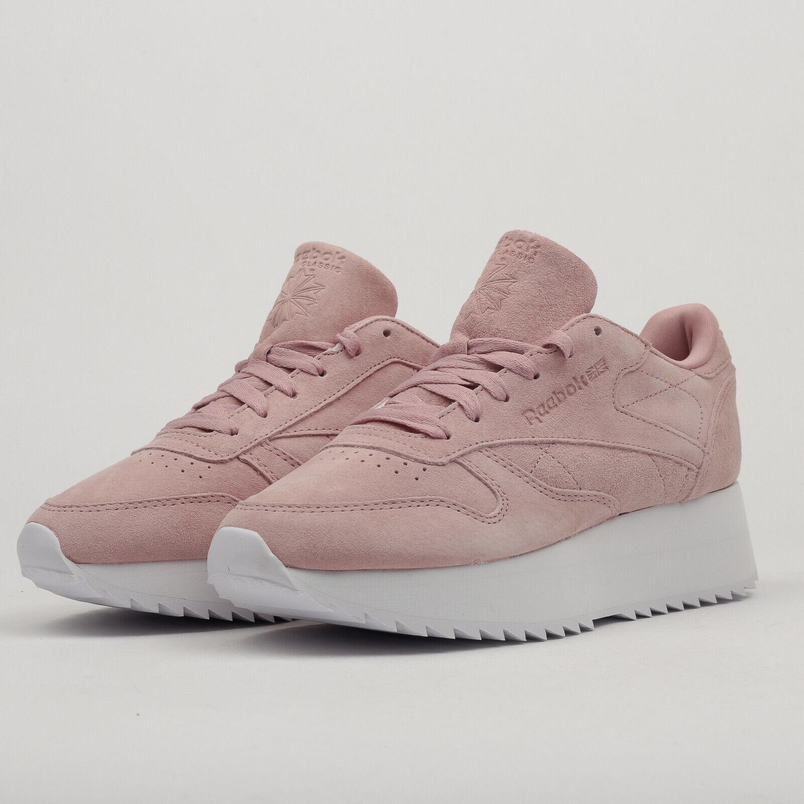 Reebok Classic Leather Double smoky pink   white EU 38, Frauen, Pink, DV3628