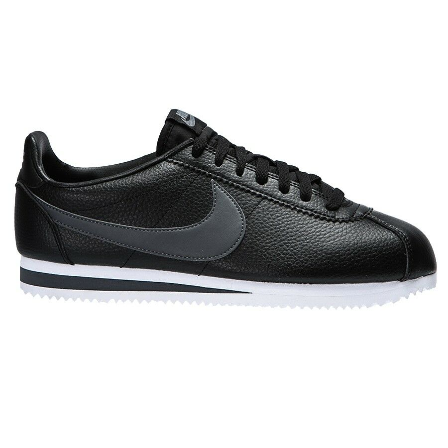 Nike CLASSIC CORTEZ LEATHER 749571-011 Black Grey mod. 749571-011