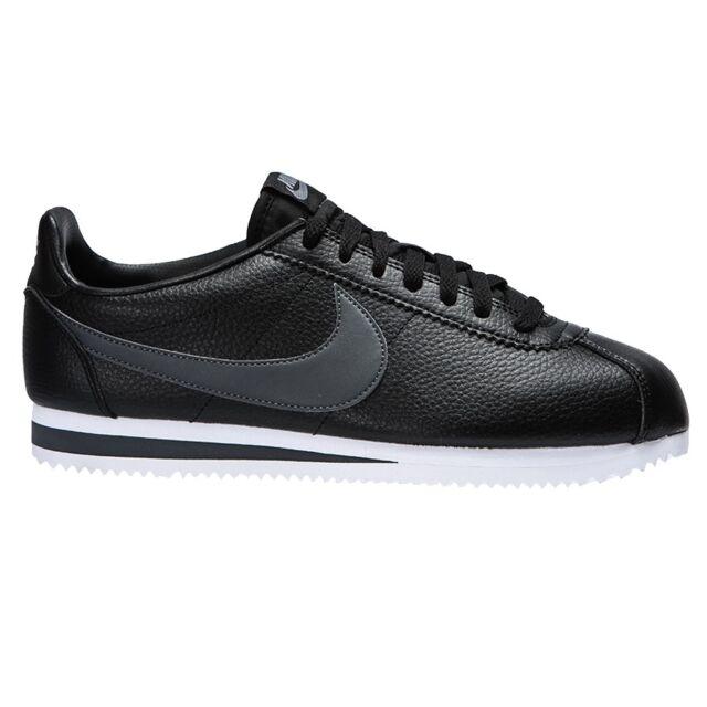 newest 58208 66b74 Nike CLASSIC CORTEZ LEATHER 749571-011 Nero Grigio mod. 749571-011