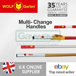Wolf Garten Multi-Change Attachment Light Red Handle Multi Purpose Garden Weed