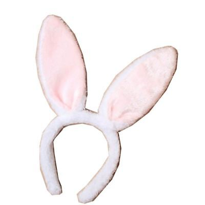 White Furry Bunny//Rabbit Ears Aliceband-Headband Easter Hen Night Fancy Dress