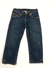 True Religion Blue Cotton Spandex Stretchy Capris Girls - Kate Jeans Sz.10