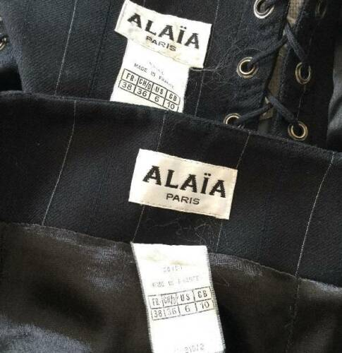 Alaia Vintage Sexy Plunging Halter Top Mini Skirt Suit Sz Fr 38 So Cute!! by Alaia