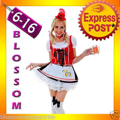 G51 Ladies Oktoberfest German Bar Beer Maid Wench Fancy Dress Up Costume Outfit