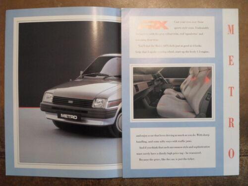 AUSTIN ROVER MINI METRO ARX orig 1988 UK Mkt Sales Brochure