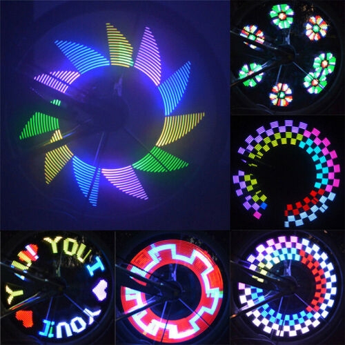 Bike Bicycle Cycling Wheel Safety Spoke Tire Wire Tyre LED Lights Lamp Night AE