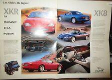 N°10123 /  dépliant poster JAGUAR XKR et XK8 texte français
