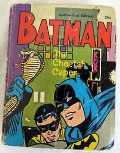 Original-Vintage-1969-Whitman-Batman-The-Cheetah-Caper-Big-Little-Book-RARE