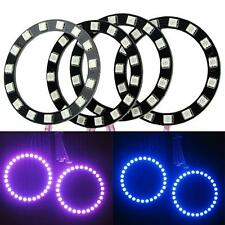 4 x Multi-Color RGB LED Halo Rings Bulbs Light 70mm 5050 Super Bright Angel Eyes