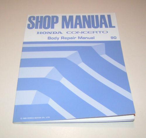 Body Repair Manual Honda Concerto 1990!