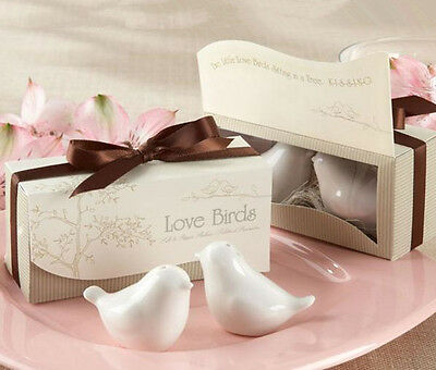 2pcs Cute Ceramic Love Bird Cruet Spice Salt Pepper Shakers Set in Gift Box New