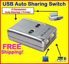 TechByte 2 Ports USB Auto Sharing Switch