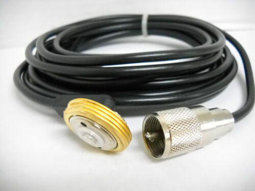 NMO MOUNT 3//4 HOLE W// 15.5/' RG58A//U L-195 CABLE AND PL259 CONNECTOR