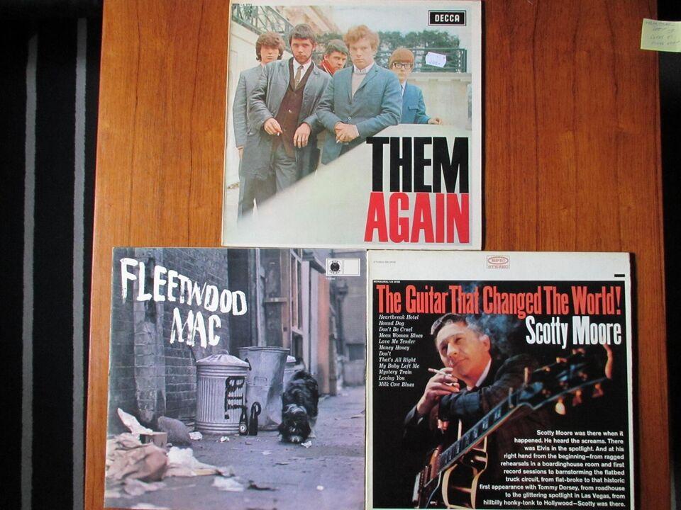LP, THEM,SCOTTY,FLEETWOOD, 3 LPer