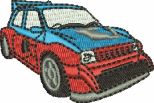 Rallye voiture 2 brodé et personnalisé t shirt