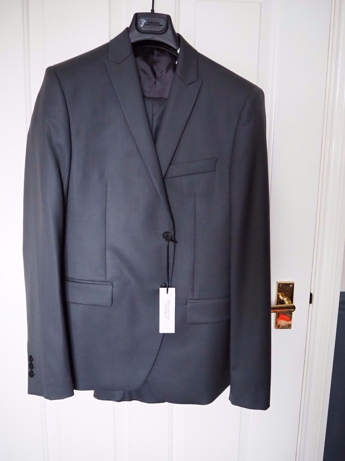 Versace Collection Grau wool suit Größe 38 (EU48) BNWT
