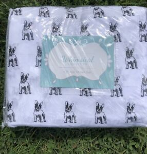 New-Whimsical-Collection-QUEEN-4PC-Sheet-Set-Boston-Terrier-French-Bulldog