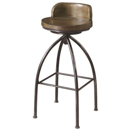 Cognac Finish Swivel Bar Stool Chair with Metal Base by Coaster 182048