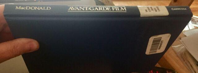 Avant-Garde Film ~ Motion Studies by Scott MacDonald ~Illus. Hardback