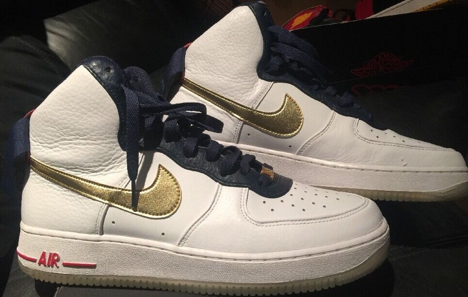 Nike Air Force 1 HI Premium USA Shoes 525317-100 Size 9.5