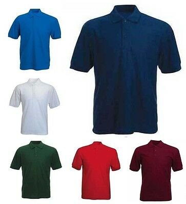 Mens Lightweight Pique Polo T Shirts Size S to 5XL SPORTS & CASUAL - BKS 510